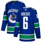 Brock Boeser Men's Vancouver Canucks Stitched Home Blue Jersey