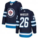 Blake Wheeler Men's Winnipeg Jets Stitched Home Navy Blue Jersey