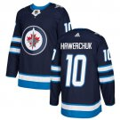 Dale Hawerchuk Men's Winnipeg Jets Stitched Home Navy Blue Jersey