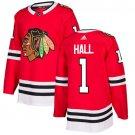 Glenn Hall Men's Chicago Blackhawks Stitched Home Red Jersey