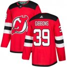 Brian Gibbons Men's New Jersey Devils Stitched Home Red Jersey