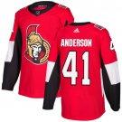 Craig Anderson Men's Ottawa Senators Stitched Home Red Jersey