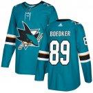 Mikkel Boedker Men's San Jose Sharks Stitched Teal Home Blue Jersey