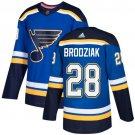 Kyle Brodziak Men's St  Louis Blues Stitched Royal Home Blue Jersey