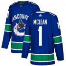 Kirk Mclean Men's Vancouver Canucks Stitched Home Blue Jersey