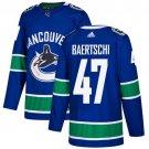 Sven Baertschi Men's Vancouver Canucks Stitched Home Blue Jersey