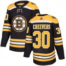Gerry Cheevers Men's Boston Bruins Stitched Home Black Jersey