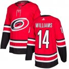 Justin Williams Men's Carolina Hurricanes Stitched Home Red Jersey
