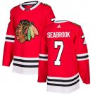 Brent Seabrook Men's Chicago Blackhawks Stitched Home Red Jersey