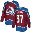 J T  Compher Men's Colorado Avalanche Stitched Burgundy Home Red Jersey