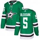 Jamie Oleksiak Men's Dallas Stars Stitched Home Green Jersey
