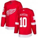 Alex Delvecchio Men's Detroit Wings Stitched Home Red Jersey
