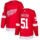 Frans Nielsen Men's Detroit Wings Stitched Home Red Jersey