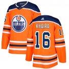 Jujhar Khaira Men's Edmonton Oilers Stitched Home Orange Jersey