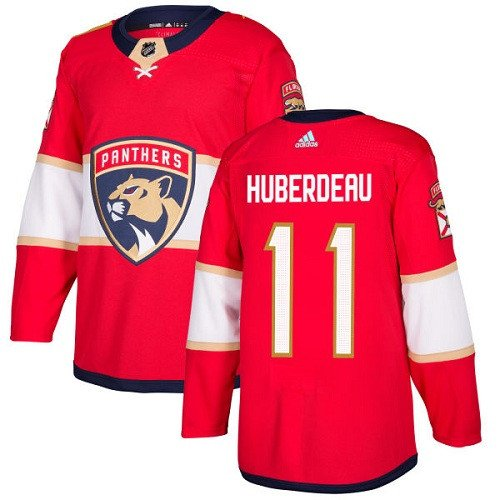Jonathan Huberdeau Men's Florida Panthers Stitched Home Red Jersey