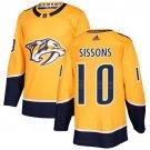 Colton Sissons Men's Nashville Predators Stitched Home Gold Jersey