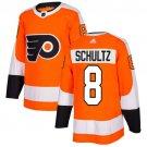 Dave Schultz Men's Philadelphia Flyers Stitched Home Orange Jersey