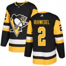 Chad Ruhwedel Men's Pittsburgh Penguins Stitched Home Black Jersey