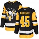 Josh Archibald Men's Pittsburgh Penguins Stitched Home Black Jersey