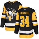 Tom Kuhnhackl Men's Pittsburgh Penguins Stitched Home Black Jersey