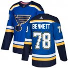 Beau Bennett Men's St  Louis Blues Stitched Royal Home Blue Jersey