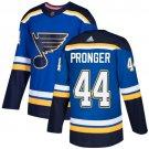 Chris Pronger Men's St  Louis Blues Stitched Royal Home Blue Jersey