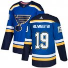 Jay Bouwmeester Men's St  Louis Blues Stitched Royal Home Blue Jersey