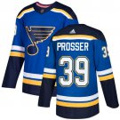 Nate Prosser Men's St  Louis Blues Stitched Royal Home Blue Jersey