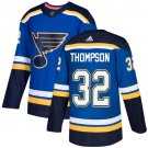 Tage Thompson Men's St  Louis Blues Stitched Royal Home Blue Jersey