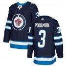 Tucker Poolman Men's Winnipeg Jets Stitched Home Navy Blue Jersey