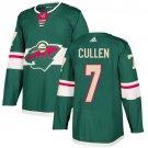Matt Cullen Men's Minnesota Wild Stitched Home Green Jersey