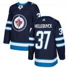 Connor Hellebuyck Men's Winnipeg Jets Stitched Home Navy Blue Jersey