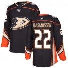 Dennis Rasmussen Men's Anaheim Ducks Stitched Home Black Jersey