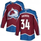 Carl Soderberg Men's Colorado Avalanche Stitched Burgundy Home Red Jersey