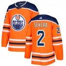 Andrej Sekera Men's Edmonton Oilers Stitched Home Orange Jersey