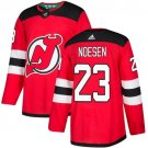 Stefan Noesen Men's New Jersey Devils Stitched Home Red Jersey