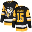 Riley Sheahan Men's Pittsburgh Penguins Stitched Home Black Jersey