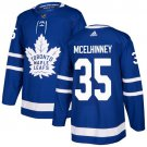 Curtis McElhinney Men's Toronto Maple Leafs Stitched Royal Home Blue Jersey