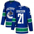 Loui Eriksson Men's Vancouver Canucks Stitched Home Blue Jersey