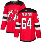 Joseph Blandisi Men's New Jersey Devils Stitched Home Red Jersey
