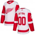 Men's Detroit Red Wings Customized White Stitched Jersey