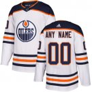 Men's Edmonton Oilers Customized White Stitched Jersey