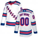 Men's New York Rangers Customized White Stitched Jersey