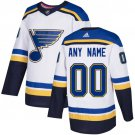 Men's St. Louis Blues Customized White Stitched Jersey