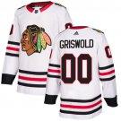 Men's Chicago Blackhawks #00 Clark Griswold White Stitched Jersey
