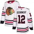 Men's Chicago Blackhawks #12 Alex DeBrincat White Stitched Jersey
