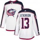 Men's Columbus Blue Jackets #13 Cam Atkinson White Stitched Jersey