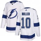 Men's Tampa Bay Lightning #10 J.T. Miller White Stitched Jersey