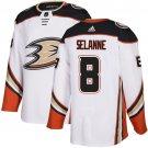 Men's Anaheim Ducks #8 Teemu Selanne White Stitched Jersey