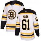 Men's Boston Bruins #61 Rick Nash White Stitched Jersey